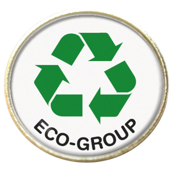 Recycle ECO-GROUP 25mm Gold Badge - School Badges for Sale - Prefect School  Badges